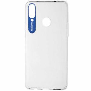 Прозрачный силиконовый TPU чехол Epic clear flash для Samsung Galaxy A20s 2019 (A207) – Синий