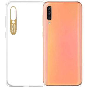 Прозрачный силиконовый TPU чехол Epic clear flash для Samsung Galaxy A50 / A30s 2019 – Золотой