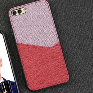TPU+Textile чехол Langsidi для Huawei Honor 10 – Розовый / Красный