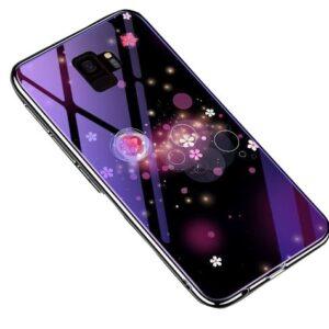 TPU+Glass чехол Fantasy с глянцевыми торцами для Samsung Galaxy S9 (G960) – Пузырьки и цветы
