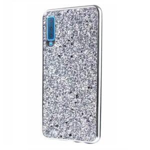 Чехол Shining Corners With Sparkles для Samsung Galaxy A7 2018 A750 – Silver