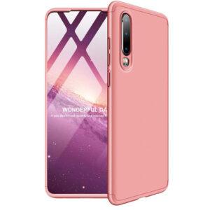 Матовый пластиковый чехол GKK 360 градусов для Huawei P30 – Розовый / Rose Gold