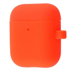 Чехол для наушников Silicone Case Slim + карабин для Apple Airpods 2 – Spicy orange