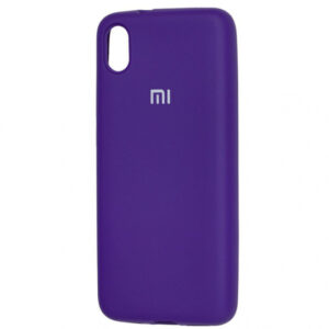 Оригинальный чехол Silicone Cover 360 с микрофиброй для Xiaomi Redmi 7A – Фиолетовый / Purple