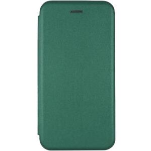 Кожаный чехол-книжка 360 с визитницей для Xiaomi Redmi 9C – Зеленый