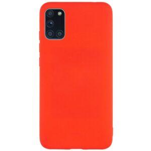 Матовый силиконовый TPU чехол для Samsung Galaxy M31s – Красный