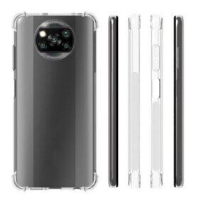 Прозрачный силиконовый TPU чехол с усиленными углами для Xiaomi Poco X3 / Poco X3 NFC – Clear