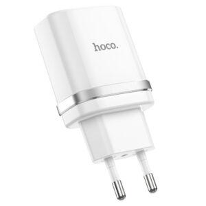 Сетевое зарядное устройство Hoco C12Q Smart Quick Charge 3.0 1USB / 3A – White