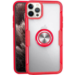 Чехол TPU+PC Deen CrystalRing с креплением под магнитный держатель для Iphone 12 Pro Max – Красный