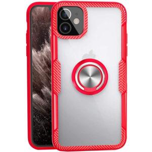 Чехол TPU+PC Deen CrystalRing с креплением под магнитный держатель для Iphone 12 Mini – Красный