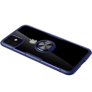 Чехол TPU+PC Deen CrystalRing с креплением под магнитный держатель для Iphone 12 Mini – Синий