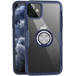 Чехол TPU+PC Deen CrystalRing с креплением под магнитный держатель для Iphone 12 Mini – Темно-синий