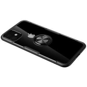 Чехол TPU+PC Deen CrystalRing с креплением под магнитный держатель для Iphone 12 Mini – Черный