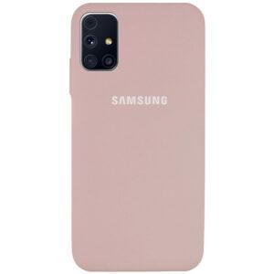 Оригинальный чехол Silicone Cover 360 с микрофиброй для Samsung Galaxy M31s – Розовый / Pink Sand