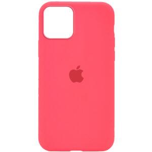 Оригинальный чехол Silicone Cover 360 с микрофиброй для Iphone 12 Pro / 12 – Арбузный / Watermelon red