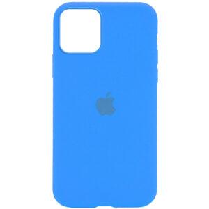 Оригинальный чехол Silicone Cover 360 с микрофиброй для Iphone 12 Pro / 12 – Голубой / Blue
