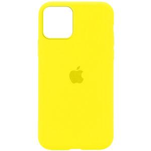 Оригинальный чехол Silicone Cover 360 с микрофиброй для Iphone 12 Pro / 12 – Желтый / Neon Yellow