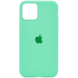 Оригинальный чехол Silicone Cover 360 с микрофиброй для Iphone 12 Pro / 12 – Зеленый / Spearmint