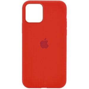Оригинальный чехол Silicone Cover 360 с микрофиброй для Iphone 12 Pro / 12 – Красный / Dark Red