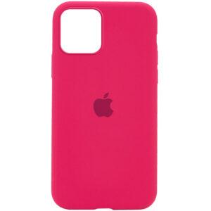 Оригинальный чехол Silicone Cover 360 с микрофиброй для Iphone 12 Pro / 12 – Красный / Rose Red