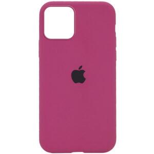 Оригинальный чехол Silicone Cover 360 с микрофиброй для Iphone 12 Pro / 12 – Малиновый / Dragon Fruit