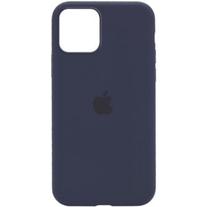 Оригинальный чехол Silicone Cover 360 с микрофиброй для Iphone 12 Pro Max – Темный Синий / Midnight Blue