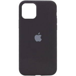 Оригинальный чехол Silicone Cover 360 с микрофиброй для Iphone 12 Pro / 12 – Черный / Black