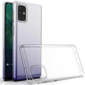 Прозрачный силиконовый TPU чехол для Samsung Galaxy M31s