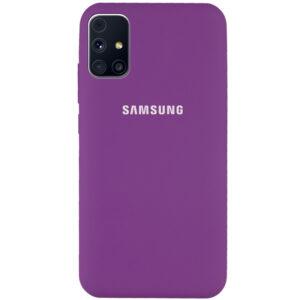 Оригинальный чехол Silicone Cover 360 с микрофиброй для Samsung Galaxy M31s – Фиолетовый / Grape