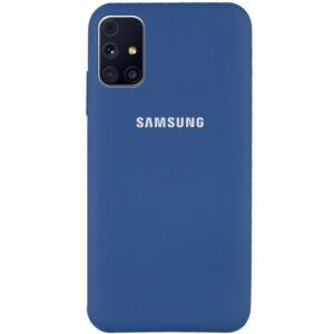Оригинальный чехол Silicone Cover 360 с микрофиброй для Samsung Galaxy M31s – Синий / Navy Blue