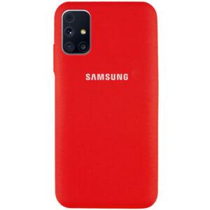Оригинальный чехол Silicone Cover 360 с микрофиброй для Samsung Galaxy M31s – Красный / Red