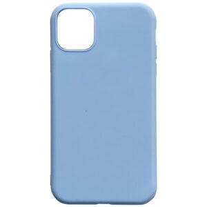 Матовый силиконовый TPU чехол для Iphone 12 Mini – Голубой / Lilac Blue