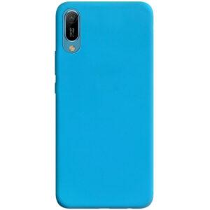 Матовый силиконовый TPU чехол для Huawei Y6 2019 – Голубой