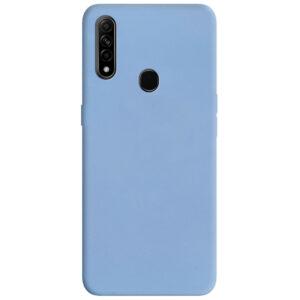 Матовый силиконовый TPU чехол для Oppo A31 / A8 – Голубой / Lilac Blue
