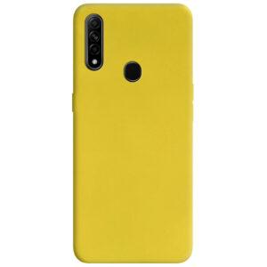 Матовый силиконовый TPU чехол для Oppo A31 / A8 – Желтый