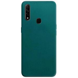 Матовый силиконовый TPU чехол для Oppo A31 / A8 – Зеленый / Forest green