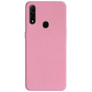 Матовый силиконовый TPU чехол для Oppo A31 / A8 – Розовый