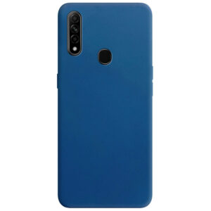 Матовый силиконовый TPU чехол для Oppo A31 / A8 – Синий