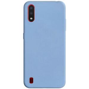 Матовый силиконовый TPU чехол для Samsung Galaxy M01 – Голубой / Lilac Blue
