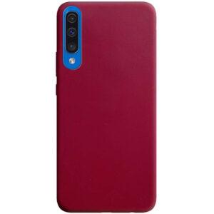Матовый силиконовый TPU чехол для Samsung A50 / A30s – Бордовый