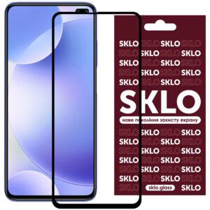 Защитное стекло 3D / 5D Premium SKLO Full Glue на весь экран для Xiaomi Redmi K30 / Poco X3 NFC / Poco X3 / Mi 10T / Mi 10T Pro – Black
