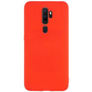Матовый силиконовый TPU чехол для Oppo A5 (2020) / A9 (2020) – Красный