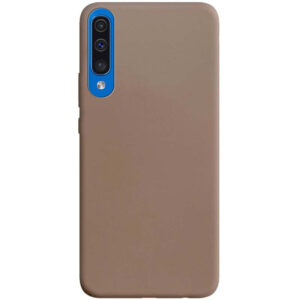 Матовый силиконовый TPU чехол для Samsung A50 / A30s – Коричневый