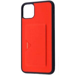 Кожаный чехол Dux Ducis Pocard для Iphone 11 – Красный
