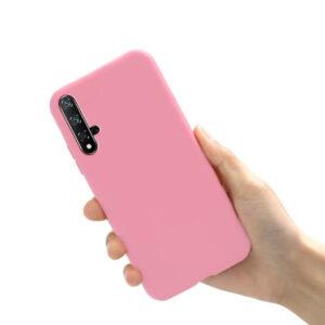 Матовый силиконовый TPU чехол для Huawei Honor 20 / Nova 5T – Розовый