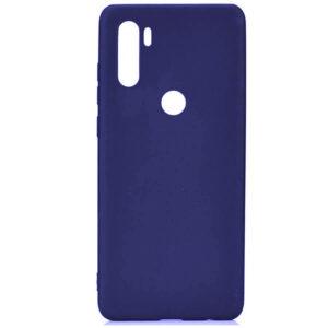 Матовый силиконовый TPU чехол для Xiaomi Redmi Note 8T – Синий