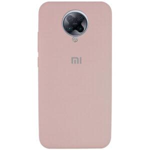 Оригинальный чехол Silicone Cover 360 с микрофиброй для Xiaomi Redmi K30 Pro / Poco F2 Pro – Розовый  / Pink Sand