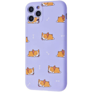 TPU чехол WAVE Fancy Case для Iphone 11 Pro – Sleeping corgi / Light purple