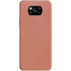 Матовый силиконовый TPU чехол для Xiaomi Poco X3 NFC / Poco X3 – Rose Gold