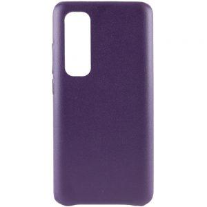 Кожаный чехол Leather Case для Xiaomi Mi Note 10 Lite – Фиолетовый
